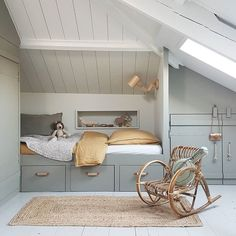 26 Rustic Bedroom Design and Decor Ideas for a Cozy and Comfy Space - The Trending House Small Space Interior Design, Kids Room Design, Barn Bedrooms, Creative Kids Rooms, Rustic Bedroom Design, Loft Room, Italian Home, Attic Rooms, Kid Rooms