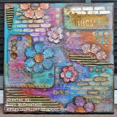 I'm Just a Girl.In an Altered Art World:): Just for fun. Altered Canvas, Altered Art, Craft Projects, Projects To Try, Craft Ideas, Mixed Media Canvas, Mixed Media Art, Art Journal Inspiration, Journal Ideas