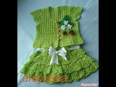 Crochet Patterns| for free |crochet baby dress| 1923 - YouTube