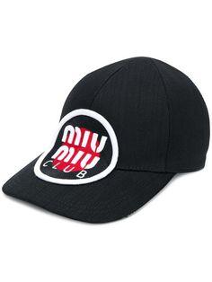 0ef0a7503d8 Miu Miu Target Patch Logo Cap - Farfetch
