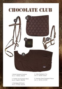 The most important role of equestrian clothing is for security Although horses can be trained they can be unforeseeable when provoked. Riders are susceptible while riding and handling horses, espec… Equestrian Outfits, Equestrian Style, Equestrian Fashion, Chocolate Club, Chocolate Brown, English Horse Tack, Horse Riding Clothes, Horse Fashion, Horse Jewelry