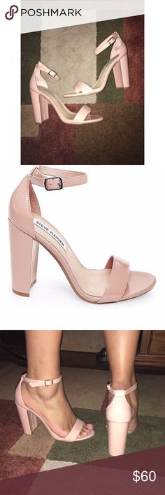 Steve Madden NUDE CARRSON sandals Nude Chunky heel sandals  can be worn with anything  Have wore them twice. Steve Madden Shoes Sandals