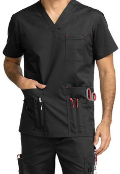 Make the men's Red Alert scrub top from MC2 by Med Couture you're