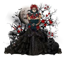 """""""Halloween doll"""" by bubblegum59 ❤ liked on Polyvore featuring art, Halloween, doll, scary and Dayofthedead"""