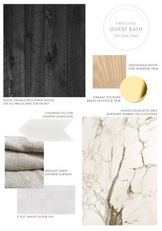 Emily Henderson Mountain Fixer Upper I Design You Decide Guest Bath Downstairs Materials Option One 6.14.18 3