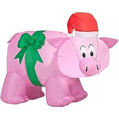 Used for outdoor decor there as well christmas pig outdoor decoration