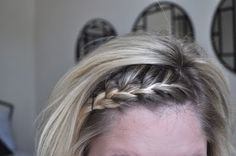 finally! french braid your own hair... i thought cutting my hair short would spice up my hair life and instead it got even more boring. dont go with my theory.