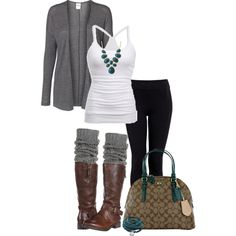 """Gray & Turquoise!"" by jjanstover on Polyvore"