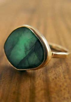 Emerald wedding ring? Yes. I really like the RAW style of this.