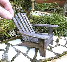 Miniature Adirondack Chair, Old Cape Cod Beach Chair For Mini, Fairy, Terrarium…