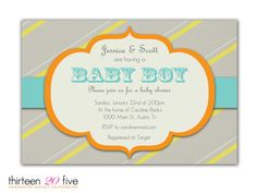 Modern Baby Boy Shower Invitation by Thirteen20Five on Etsy, $10.00