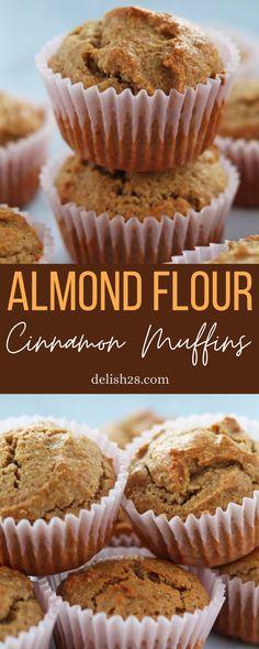 Almond Flour Desserts, Almond Flour Cakes, Almond Flour Muffins, Almond Flour Bread, Baking With Almond Flour, Cinnamon Muffins, Almond Flour Recipes, Sans Gluten, Gluten Free
