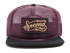 Second Sons Burgundy Snapback Cap by THE HUNDREDS