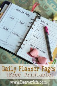 Daily Planner Pages {Free Printable} ~ www.Denveristsa.com