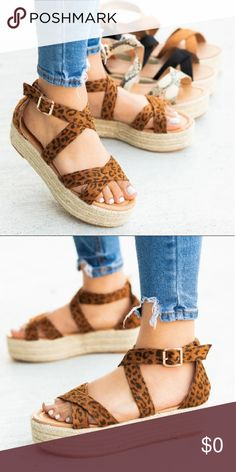 b31cb0740455 LEOPARD ESPADRILLES Supper Cute Pair of Leopard Espadrilles😍 Leopard Vegan  Suede with Rope Sides 2