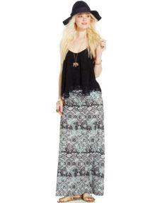 American Rag Printed Foldover Maxi Skirt