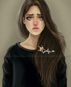 girly_m, sad, and art image Girly M, Crying Girl Drawing, Princesse Disney Swag, Sarra Art, Girly Drawings, Digital Art Girl, Tumblr Girls, Girl Cartoon, Fashion Art