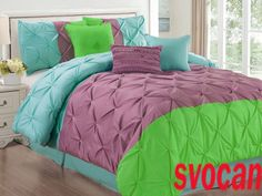 1500 Tc 3 Pc Queen 3D Pinch Pleated Egyptian Cotton Duvet Cover Set Abplg Xmas