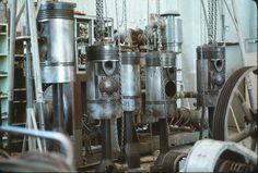 Watchtower Farms Powerhouse Rathbun-Jones 6 cylinder diesel generator pistons and rods