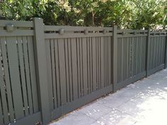 Craftsman style fence.