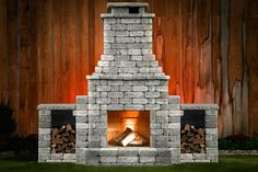 Affordable DIY Fireplace Kits are outdoor luxury shipped to your front door. Build Outdoor Fireplace, Outdoor Fireplace Designs, Diy Fireplace, Outdoor Fireplaces, Outside Seating Area, Deck Seating, Wood Storage Box, Backyard Paradise, Outdoor Living