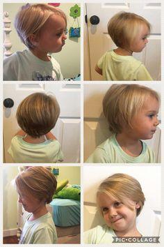 Little Girl Hairstyles Little Girls Pixie Cut, Little Girls Pixie Haircuts, Little Girl Bob Haircut, Bob Haircut For Girls, Toddler Haircuts, Little Girl Hairstyles, Kids Girl Haircuts, Long Hairstyles, Toddler Bob Haircut