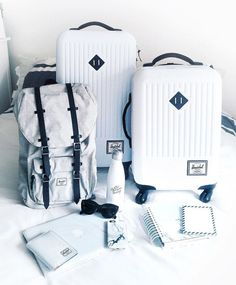 Travel situation situated with Herschel Supply.
