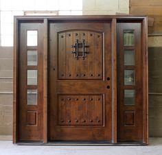rustic front doors | Rustic Exterior Doors Wide