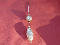 CHRISTMAS ORNAMENT. Mercury Glass. Czech Bead. dangling ornament. Handmade ornament. Czechoslovakia. 1940s Christmas. Christmas Decoration by OurVintageHouse on Etsy