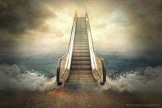 escalator by evenliu photomanipulation on 500px
