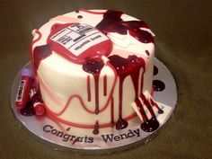 Phlebotomy Graduation Cake on Cake Central