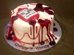 Phlebotomy Graduation Cake on Cake Central