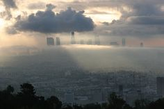 Los Angeles in Clouds by Michael Payne