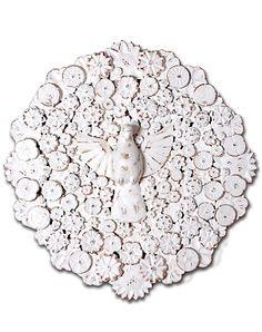 Mandala de madeira Divino Branca com Flores, Oficina de Agosto :: Brasil Bacana
