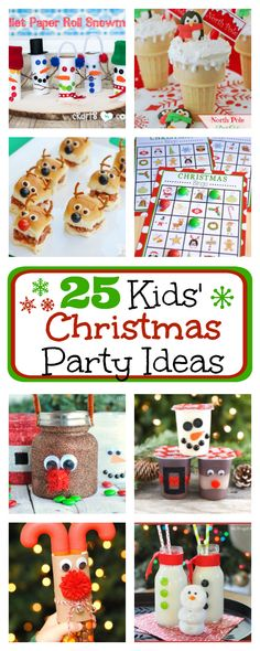 25 Fun Kids' Christmas Party Ideas. These party ideas are so fun. They are cute and festive and also involve some fun activities. #christmas #christmasparty #party