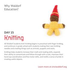 """Knitting""  Things We Love About Waldorf Education"