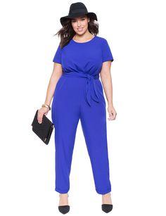Tie Waist Jumpsuit | Women's Plus Size Dresses | ELOQUII