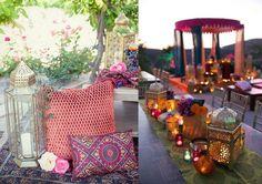 decoración boda marroquí