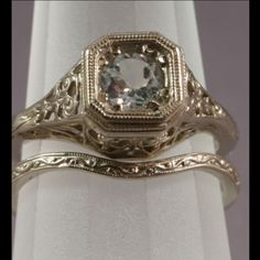 Vintage Deco Diamonds in Platinum