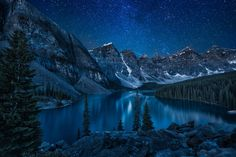 Moraine Lake at night by Andrey Popov on 500px