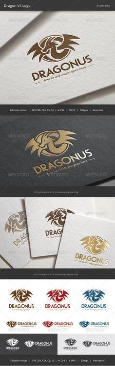 Dragon V4 Logo — Vector EPS #wealth #circle • Available here → https://graphicriver.net/item/dragon-v4-logo/7992105?ref=pxcr