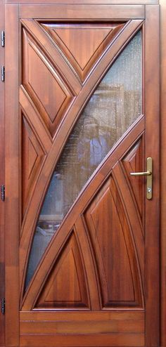 I love simple and pretty front doors. In a couple months when the weather warms up, we are replacing our front door and . Door Gate Design, Door Design Interior, Main Door Design, Wooden Door Design, Front Door Design, Cool Doors, Unique Doors, Modern Wooden Doors, Entrance Doors