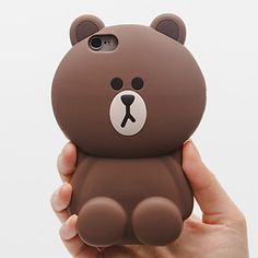 Little Bear Silicone Soft Back Case for iPhone 6/6S(Assorted Colors)