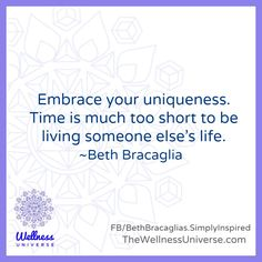 Enjoy The Wellness Universe Quote of the Day by Beth and find more inspiration on her page. Here is her expanded thought…