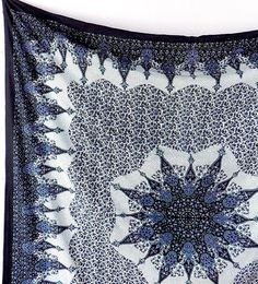 BIG BLUE STAR Bohemian Wall Hanging Fabric Mandala Tapestry Bedspread Hippie Boho Bedding Throw Home Decorative