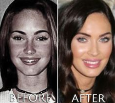 Take a look at Megan Fox before and after photos and make your own opinion. Which and how many plastic surgeries have been perfomed? Megan Fox Before After, Before After Photo, Megan Fox Plastic Surgery, Plastic Surgery Before After, Megan Denise Fox, Young Female, Makeup Transformation, Doll Face, American Actress