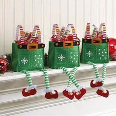 «Amei estas lembrancinhas para o Natal. Regram @queridadata Imagem Pinterest. #encontrandoideias #blogencontrandoideias»