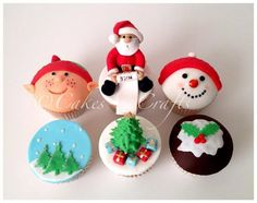 Christmas Cupcakes by Cakes-n-Crafts, Glasgow, UK. You'll find this Cake Appreciation Society Member in our Directory at www.cakeappreciationsociety.com