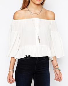 Enlarge ASOS Off The Shoulder Peasant Top
