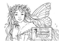 Digital Stamp Printable Instant download Digi stamp Coloring page Art of Janna Prosvirina (2.70 USD) by Jannafairyart